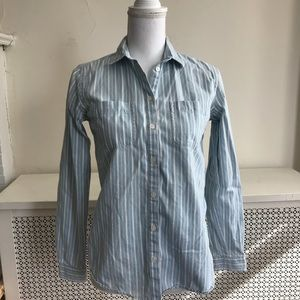LOFT Soft Long Sleeved Striped Button Down